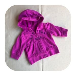 5/$10 GAP pink zip up hoodie girls 0-3M